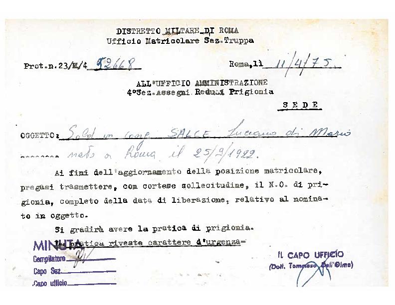 5 – Protocollo ufficio amministrativo