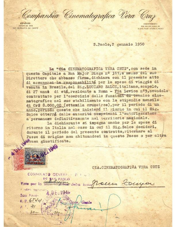 Contratto Vera Cruz (02-01-1950)